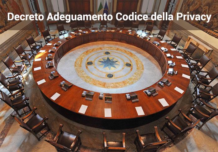 Decreto Adeguamento Codice Privacy in Italia