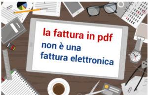 la fattura in pdf non è una fattura elettronica