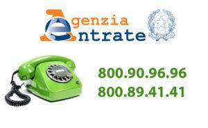 nuovo numero verde agenzia delle entrate in vigore dal 1 agosto