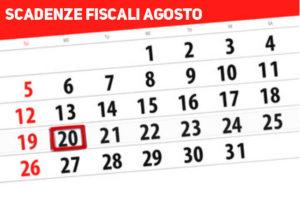 scadenze fiscali mese agosto 2018