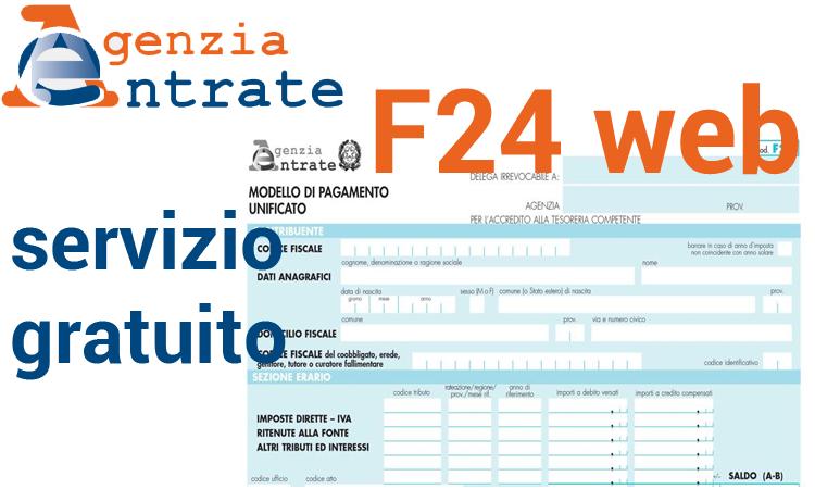 f24 web il servizio gratuito dell'agenzia delle entrate come funziona