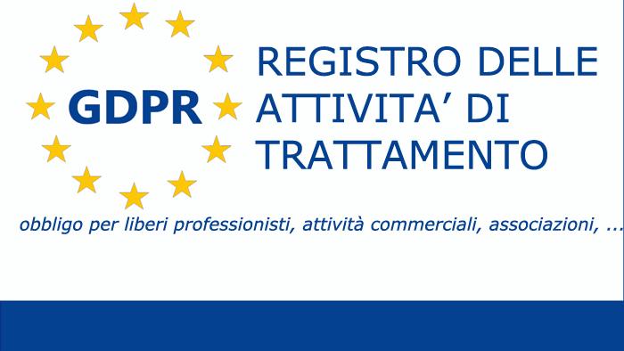 registro delle attività di trattamento obbligatorio per professionisti attività commerciali