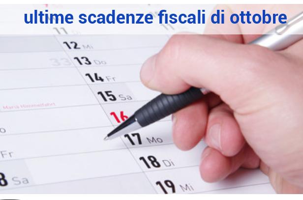 ultime scadenze fiscali mese ottobre 2018