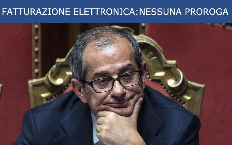 il ministro Tria dice no alla proroga per la fatturazione elettronica tra privati