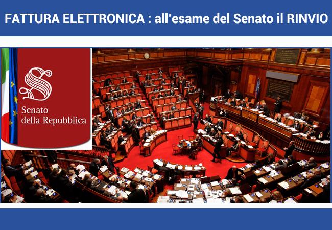 proroga fatturazione elettronica in esame al Senato