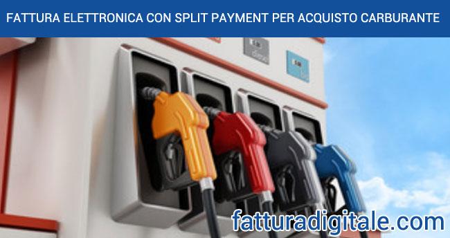 fattura elettronica con split per acquisto carburante da distributore automatico