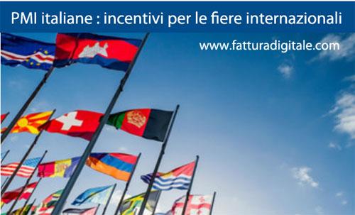 incentivi credito di imposta imprese italiane per partecipare a fiere internazionali