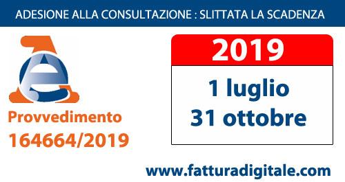 nuova scadenza adesione consultazione fatture elettroniche agenzia delle entrate 1 luglio 2019