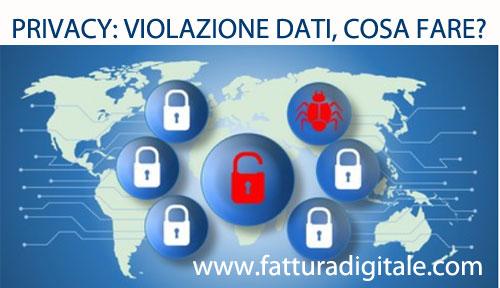 privacy data breach violazione dati cosa fare e come comunicare al garante