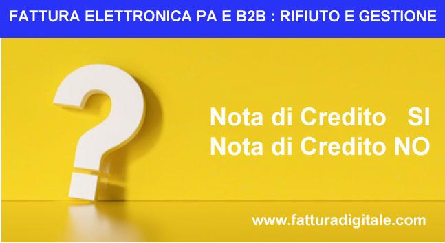 FATTURA ELETTRONICA PA E B2B CASI DI RIFIUTO E GESTIONE