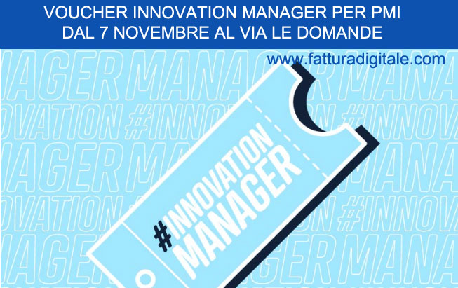 voucher innovation manager dal 7 novembre via alle domande