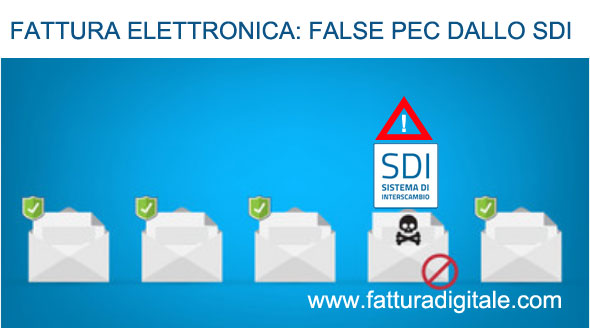 false pec dallo sdi per consegna fatture elettroniche