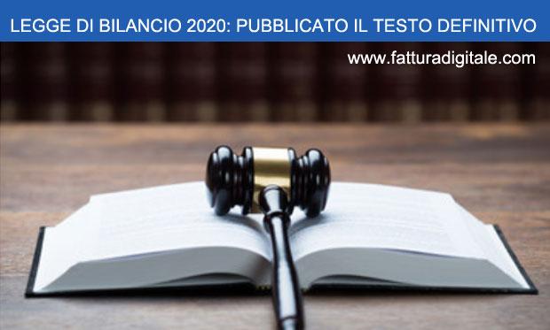 legge di bilancio 2020 testo definitivo entra in vigore dal 27 ottobre 2019
