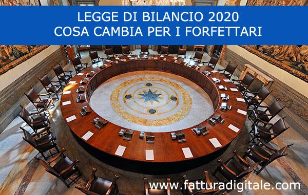 legge di bilancio 2020 cambiamenti per il regime forfettario