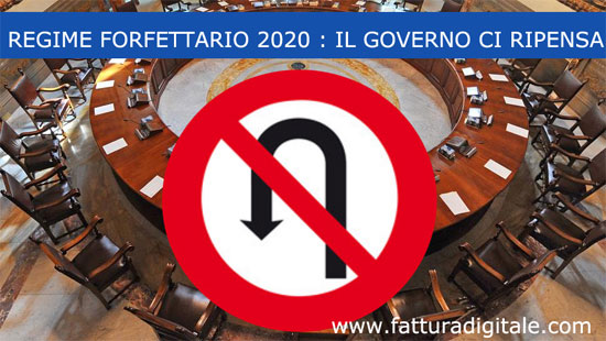 regime forfettario 2020 il governo ci ripensa niente regime analitico