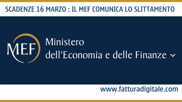 scadenze fiscali 16 marzo 2020 slittate dal ministero delle finanze