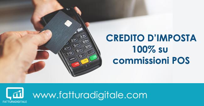 credito di imposta 100% su commissioni POS fatturadigitale.com